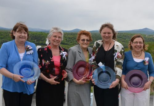 Central Vermont Medical Center  Rose Black nursing excellence award winners are (L TO R):  Nancy Renfrew,LNA,  Donna Leighty, RN, Betty Miller, RN, Crystal Sayers,LNA and Marge, Czok, RN.