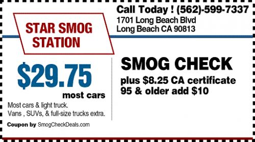 $29.75 Smog Check in Long Beach California - STAR Station