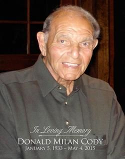 Donald M. Cody  (January 5, 1933 - May 4, 2015) Montpelier Vermont