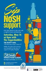 Benefit for Copley Hospital featuring The Sugardaddies Stowe Vermont