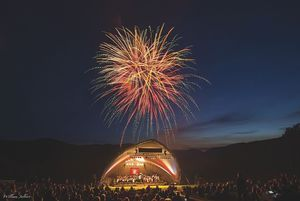 """""""Picnics, Pops and Fireworks"""" Stowe Vermont"""