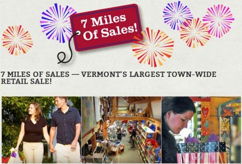 7 Miles of Sales! Stowe Vermont