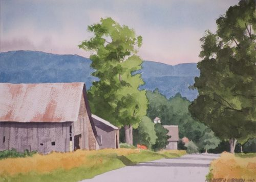 Plein Air Watercolor Painting with Helen Day Art Center Stowe Vermont