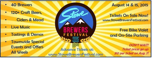 Stowe Brewers Festival 2015 Stowe Vermont