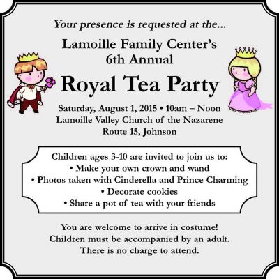 Lamoille Family Center's 6th Annual Royal Tea Party Johnson Vermont
