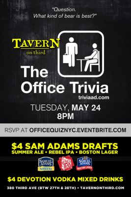 The Office Trivia Events at TAVERN on third New York New York