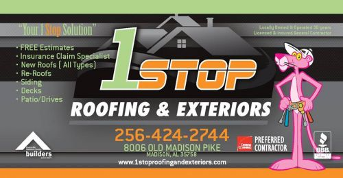 1 Stop Roofing & Exteriors Madison Alabama