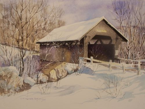 WINTER'S MAGIC IN WATERCOLOR Stowe Vermont