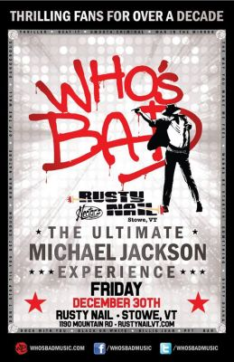 Who's Bad: Ultimate Michael Jackson Tribute Band w/ smalltalker Stowe Vermont