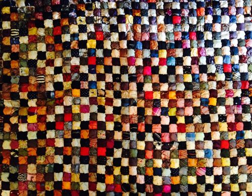 Silk Puff Quilt made by Marcia Randall, wife of Dr. David Randall, courtesy photo.