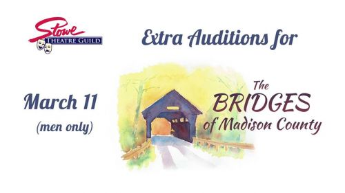 """Extra Auditions for """"The Bridges of Madison County"""" Men Stowe Vermont"""
