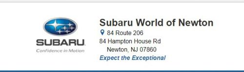 Subaru World of Newton Newton New Jersey