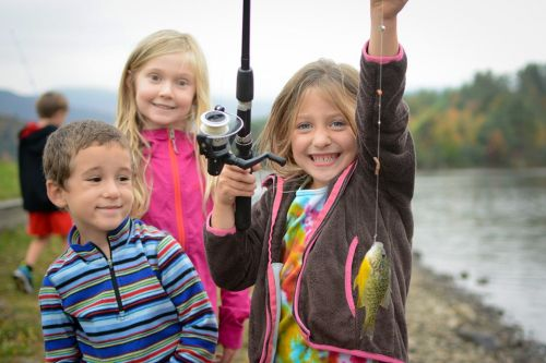 Let's Go Fishing Clinic at Little River State Park Waterbury Vermont