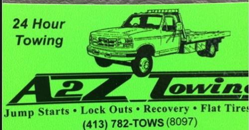 A2Z Towing and Roadside Assistance South Hadley Massachusetts