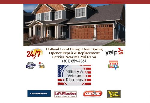 Holland Local Garage Door Spring Opener Repair & Replacement Service Near Me Md Dc Va Bowie Maryland