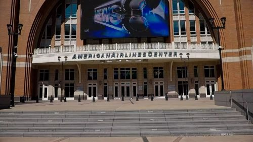 American Airlines Center at 10 minutes drive to the south of Dallas dentist Fitz Dental