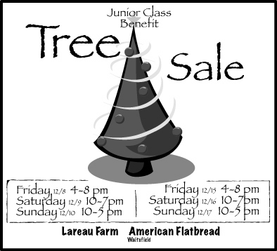 Tree Sales for Harwood Union High School to Benefit Junior Class Waitsfield Vermont
