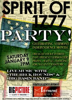 Spirit of 1777 Party! Waitsfield Vermont