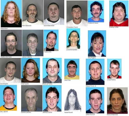 Major drug bust in Barre, 25 arrested Barre Vermont