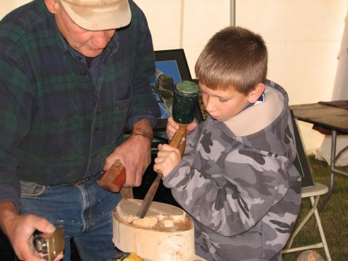 Photo By Lilla Lumbra:  Decoy carving is one of the many fun family activities featured at Dead Creek Wildlife Day.