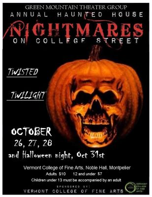 Twisted Twilight annual Haunted House Montpelier Vermont