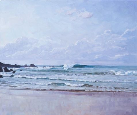 Rory Jackson - Image: 'Low Tide Out Front' Oil on canvas
